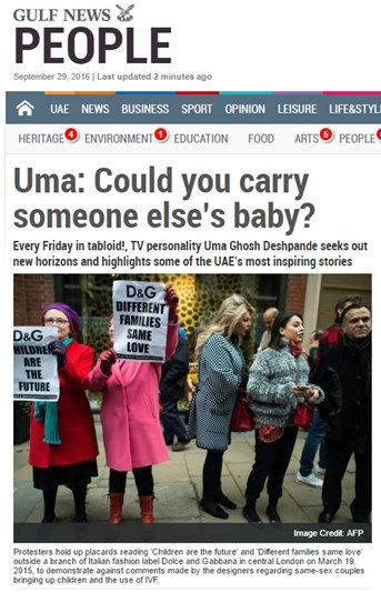 Uma: Could you carry someone else's baby?